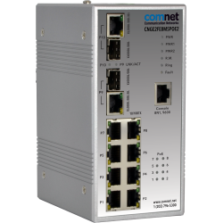 Example of Managed Ethernet Switch With (8) 10/100 BASE-TX + (2) 10/100/1000 BASE-TX/FX Combo Ports And Power Over Ethernet (PoE)