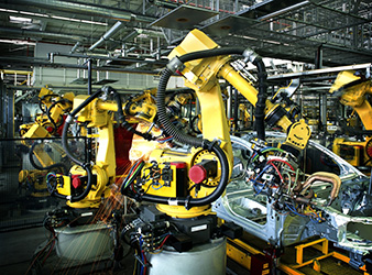 Industrial Autmation - Robotic Factory Assembly Line