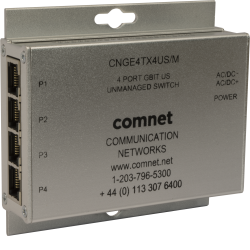 Example of 10/100/1000 Mbps 4 Port Ethernet Unmanaged Switch