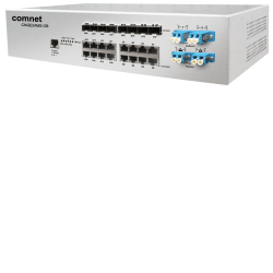 Example of Industrial 24-port All Gigabit Managed Ethernet Switch with 16 TX ports and 8 SFP Ports plus Optical Bypass