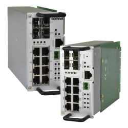 Example of Traffic Detector Rack Industrially Hardened Managed Switch Kit with (8) 10/100/1000Base-TX & (4) 100/1000Base-FX Ports & Optional PoE+