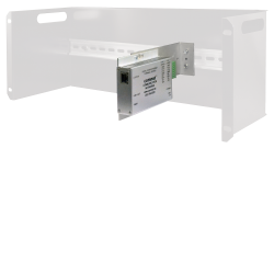 Example of Comnet Product-to-DIN Rail-to-Standard Electronic Rack Adapting Kit
