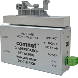 Example of Universal ComNet DIN Rail Adapter