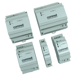 Example of Industrial DIN Rail Mounting 12 or 24 Volt Power Supplies
