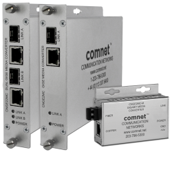 Example of 10/100/1000 Mbps Ethernet Media Converters