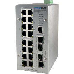Example of Managed Ethernet Switch with (16) 10/100TX + (2) Configurable 10/100/1000TX / 100/1000FX Ports