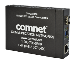 Example of Commercial Grade 10/100/1000BASE-T(X) to 1000BASE-FX Gigabit Ethernet Media Converter