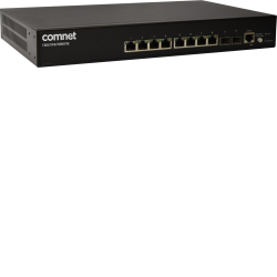 Example of Commercial Grade Managed Layer2 Ethernet Switch with 8 × 10/100/1000Base-TX Ports with IEEE802.3at PoE + 2 × 1000Base-FX SFP Ports