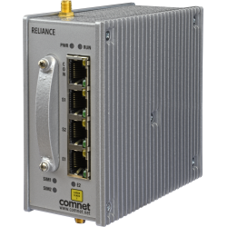 Example of Small Form Factor Substation-Rated Secure Ethernet Layer 3 Router/Gateway with Optional 2G/3G/4G LTE Cellular Radio Link, and 100/1000 Mbps SFP Uplink Port