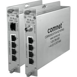 Example of 10/100 4TX+1EX Ethernet Self-managed Switch with Power over Ethernet (PoE+)