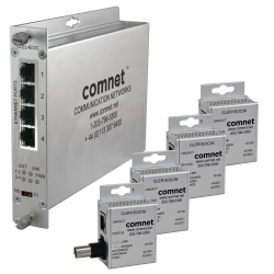 Example of CopperLine® Kit: Point-To-Multipoint Ethernet-Over-Coax Extender