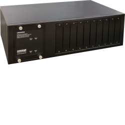 Example of Commercial Grade Media Converter Rack Mount Chassis With Single or Dual Power Supplies