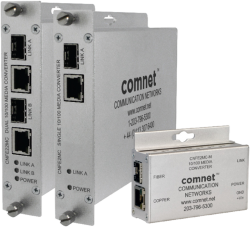 Example of 2 Channel 10/100 Mbps Ethernet Electrical To Optical Media Converter