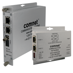 Example of 2 Channel 10/100 Mbps Ethernet Electrical To Optical Media Converter With Optional Power Over Ethernet (PoE+)