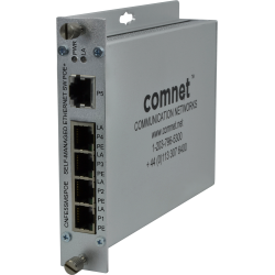 Example of 10/100TX 5 Port Ethernet Self-managed Switch with Power over Ethernet (PoE)