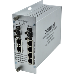 Example of 10/100TX Drop/Insert/Repeat 6TX/2FX Ethernet Self-Managed Switch with PoE
