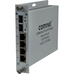 Example of 10/100/1000TX Drop/Insert/Repeat Gigabit Uplink Switch with Optional PoE+