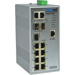 Example of Environmentally Hardened Managed Ethernet Switch with (7) 10/100TX + (3) configurable 10/100/1000TX / 100/1000FX Ports