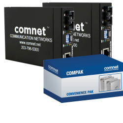 Example of Commercial Grade 10/100 Mbps Ethernet Media Converter Kit