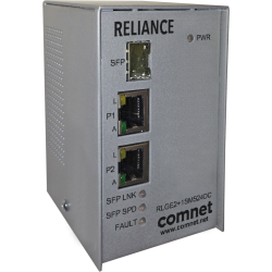 Example of Electrical Substation-Rated 10/100/1000 Mbps 3-Port Self-Managed Ethernet Switch with Universal PoE (PoE++, 60 Watts)